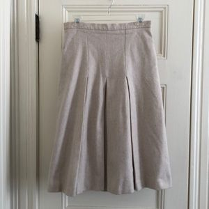 MaxMara wool pleated skirt size 8